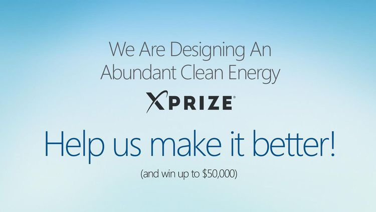 Designing An Abundant Clean Energy XPRIZE Competition