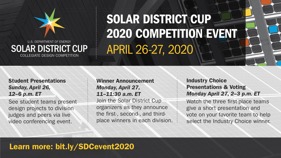Graphic version of Solar District Cup 2020 Competition Event agenda